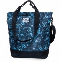 Torba zakupowa shopperka CoolPack CP SOHO UNDERWATER DREAM błękitne kwiaty