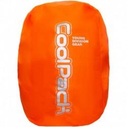 Pokrowiec na plecak przeciwdeszczowy COOLPACK RAIN COVER pomarańczowy neon