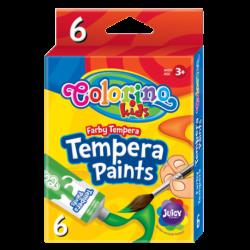 Farby tempera w tubach 6 x 12ml COLORINO