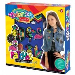 Zestaw naszywek do dekorowania ubrań / materiałów COLORINO DIY dla dziewczynki
