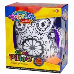 Poduszka do kolorowania sowa COLORINO maskotka dla dziewczynki DIY