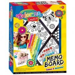 Tablica na notatki COLORINO MEMO BOARD do kolorowania pisakami DIY dla dziewczynki