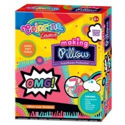 Pleciona poduszka COLORINO supełkowa zestaw kreatywny DIY dla dziewczynki