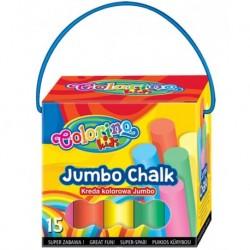 Kreda Colorino Jumbo Chalk 15 szt. MIX kolorów gruba