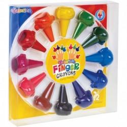 Kredki świecowe zwierzątka na palec Colorino 12 kolorów