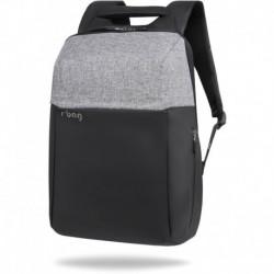 """Plecak antykradzieżowy męski na laptopa 15,6"""" r-bag Fort Gray szary z USB"""