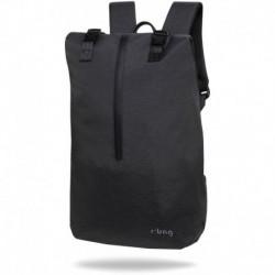 """Plecak na laptopa 15,6"""" męski miejski r-bag Hopper Black czarny z USB"""