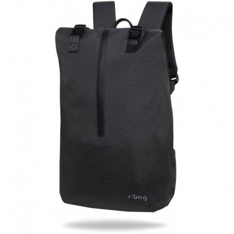 "Plecak na laptopa 15,6"" męski miejski r-bag Hopper Black czarny z USB - Cool-pack.pl"