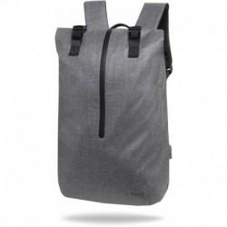 """Plecak na laptopa 15,6"""" męski miejski r-bag Hopper Gray szary z USB"""