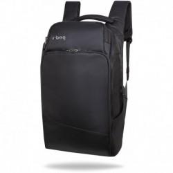"""Plecak do pracy biznesowy męski na laptopa 15,6"""" r-bag Forge Black czarny z USB"""
