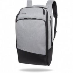 """Plecak biznesowy męski r-bag na laptopa 15,6"""" Forge szary do pracy"""