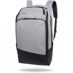 "Plecak do pracy męski na laptopa 15,6"" r-bag Forge Gray szary z USB"