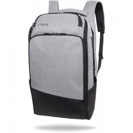 "Plecak do pracy męski na laptopa 15,6"" r-bag Forge Gray szary z USB - Cool-pack.pl"