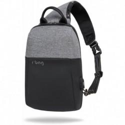 Plecak na jedno ramię męski miejski r-bag Magnet Gray szary z USB