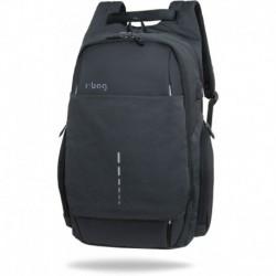 """Plecak męski na laptopa 15,6"""" r-bag Drum Black czarny z USB na walizkę"""