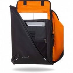 """Plecak na laptopa 15,6"""" męski r-bag Acro Black czarny z USB nieprzemakalny"""