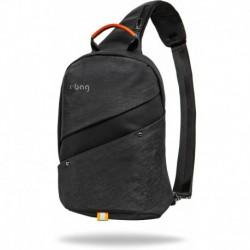 Mały plecak na jedno ramię r-bag designerski Silm czarny