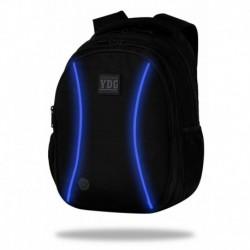 Świecący plecak młodzieżowy JOY LED COOLPACK CZARNY NIEBIESKI LED + POWERBANK