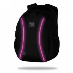 Świecący plecak młodzieżowy JOY LED COOLPACK CZARNY RÓŻOWY LED + POWERBANK