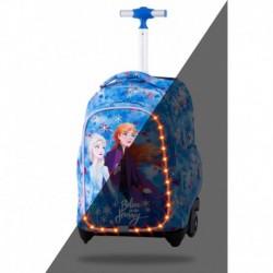 Plecak na kółkach świecący CoolPack dla dziewczynek LED KRAINA LODU JACK 24L