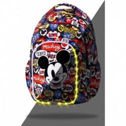 ŚWIECĄCY plecak szkolny MYSZKA MIKI MICKEY młodzieżowy CoolPack SPARK L LED 26L