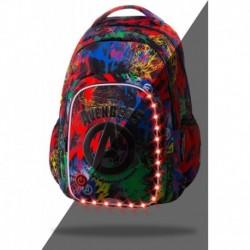 ŚWIECĄCY plecak szkolny AVENGERS młodzieżowy CoolPack SPARK L LED 26L