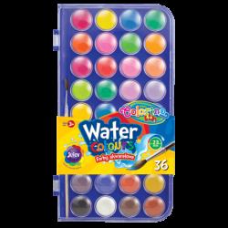 Farby akwarelowe Colorino w 36 kolorach dla dzieci mała pastylka