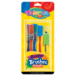 Pędzelki kreatywne 6 sztuk Colorino kids