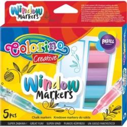 Markery kredowe do pisania po szkle Colorino Creative 5 sztuk