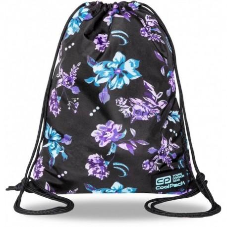 Plecak worek CoolPack VIOLET DREAM czarny w kwiaty SOLO L CP - Cool-pack.pl
