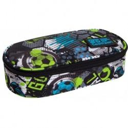 Piórnik dla chłopca CoolPack CP saszetka z klapką CAMPUS FOOTBALL z piłką nożną