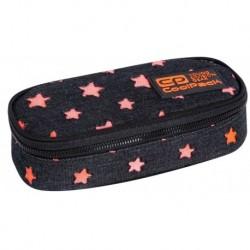 Piórnik czarny jeans CoolPack CP saszetka z klapką CAMPUS STARS w gwiazdy