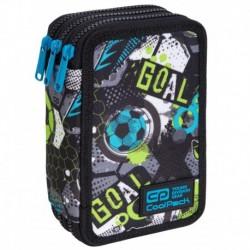 Piórnik dla dziecka COOLPACK CP JUMPER 3 FOOTBALL z piłką nożną 3 komorowy z wyposażeniem