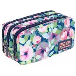 Piórnik saszetka trzykomorowa CoolPack CP PRIMUS PASTEL GARDEN pastelowy kwiatki