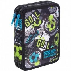 Dwukomorowy piórnik piłkarski CoolPackCP JUMPER XL piłka nożna 38el.