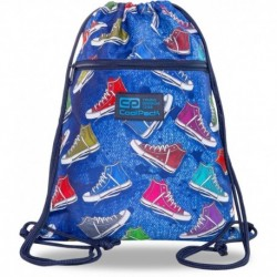 Worek na buty w dżinsowy wzór i kolorowe trampki CoolPack CP VERT TWIST szkolny