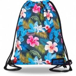 Plecak worek CoolPack CHINA ROSE kolorowe kwiaty SOLO L CP