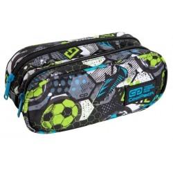 Piórnik dla chłopca saszetka podwójna CoolPack CP CLEVER FOOTBALL z piłką