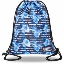 Plecak worek młodzieżowy niebieski CoolPack BLUE MARINE z kwiatkami SOLO L