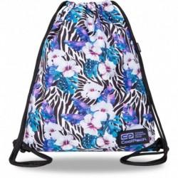 Plecak worek CoolPack FLOWER ZEBRA zebra w kwiaty SOLO L CP