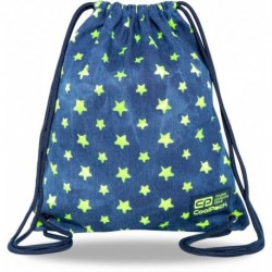 Plecak worek jeansowy CoolPack STARS w żółte gwiazdki SOLO L CP
