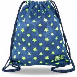 Plecak worek jeansowy dziewczęcy CoolPack STARS w żółte gwiazdy SOLO L