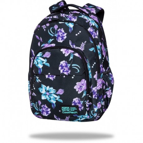 "Plecak w kwiaty CoolPack VIOLET DREAM czarny BASIC PLUS CP 17"" - Cool-pack.pl"