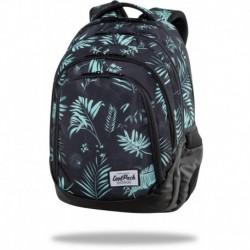 """Czarny plecak szkolny CoolPack GREEN HAWK w liście DRAFTER CP 17"""""""
