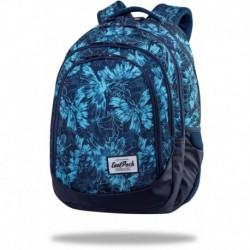 """Plecak szkolny dla dziewczynek CoolPack GILLYFLOWER niebieskie kwiaty DRAFTER CP 17"""""""