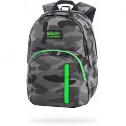 "Plecak do szkoły CoolPack moro CAMO GREEN NEON zielony DISCOVERY CP 17"""