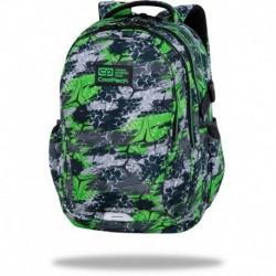 "Plecak szkolny chłopięcy CoolPack TRIOGREEN szaro-zielony FACTOR CP 17"""