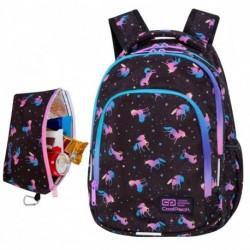 "Plecak z jednorożcem do klas 1-3 CoolPack DARK UNICORN czarny PRIME CP 16"""