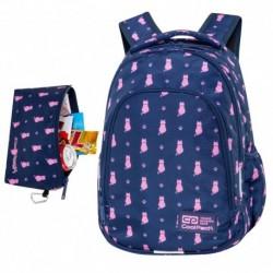 """Plecak dla dziewczynki CoolPack NAVY KITTY z kotami 1-3 PRIME CP 16"""""""