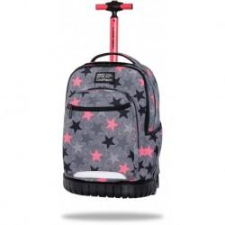 Plecak na kółkach CoolPack szary dziewczęcy FANCY STARS z gwiazdami SWIFT